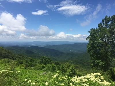 Looking west across western Virginia into eastern West Virginia.