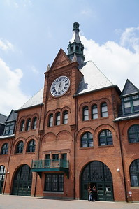 Central Railroad of New Jersey Terminal, built in 1889, abandoned in 1967, restored in 1975.