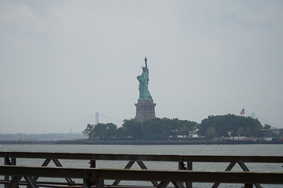 Lady Liberty, as seen from the park that bears her name.