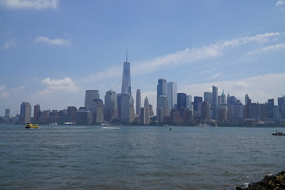 The Freedom Tower -- built on Ground Zero of 911 -- stands proudly and defiantly above The City.