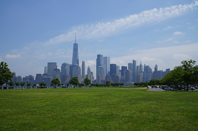 Liberty State Park, NJ, and an excellent view of the NYC skyline.