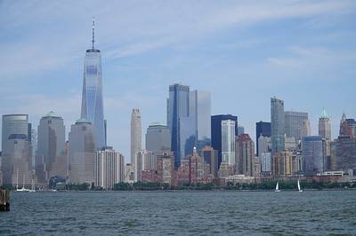 Skyline as seen from the ferry, en route to Ellis Island.