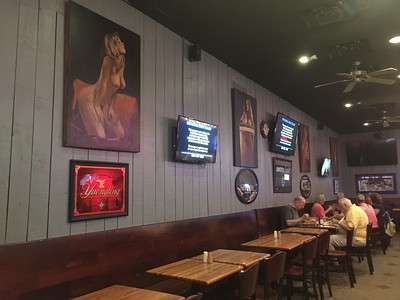"""Norwood, MA:  Lewis' Bar & Grill, and its famous artwork, same as it was back in the 1980""""s, but without the suffocating cigarette smoke."""
