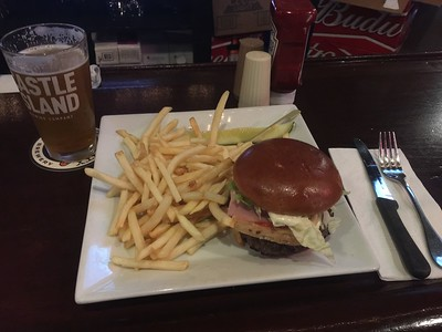 Norwood, MA:  Lewis' Bar & Grill.  The flagship of the fleet here:  the Lewisburger.  I've ever had its equal.  Better maybe, worse definitely, but there's nothing exactly like it.
