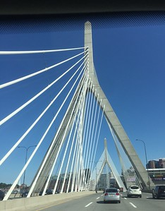 Boston, MA:  Officially the Leonard P. Zakim Bunker Hill Memorial Bridge, its 745-foot span was completed in 2003 as part of the legendary Big Dig.