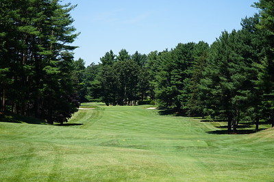 Needham Golf Club:  Hole #4, zoomed view from the tee.