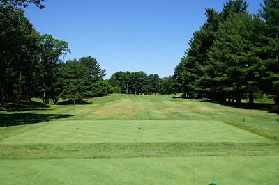 Needham Golf Club:  1st Tee, 501 yards, par 5.  This course is lot more lush than when I caddied on it from 1965-73.