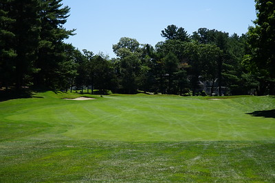 Needham Golf Club:  hole #3,  from the fairway.