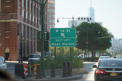 Sign on Joe DiMaggio Drive, heading south down the west side of Manhattan.