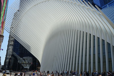 The Oculus.  That's what's it's called.  Built where some of the lesser World Trade Center buildings had been.