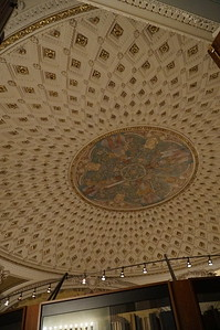 Library of Congress.  Elaborate ceilings in the place.