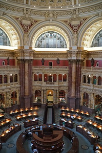 Library of Congress.  The actual library:  more than 38 million books and other printed materials, 3.6 million recordings, 14 million photographs, 5.5 million maps, 8.1 million pieces of sheet music and 70 million manuscripts