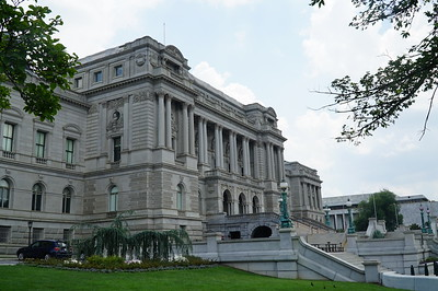 Across the street from the Capitol is the Library of Congress, completed in 1894.
