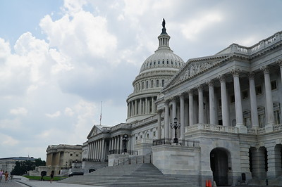 """The Capitol, the """"back"""" (east) side, less famous, but more accessible than the front."""