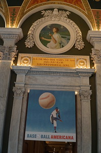 Library of Congress.  One large hall was set up as a tribute to baseball.