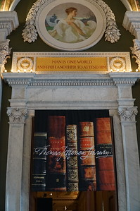 Library of Congress.  Another section contained Thomas Jefferson's library, which originally contained 6487 books (many were destroyed in a fire in 1851).