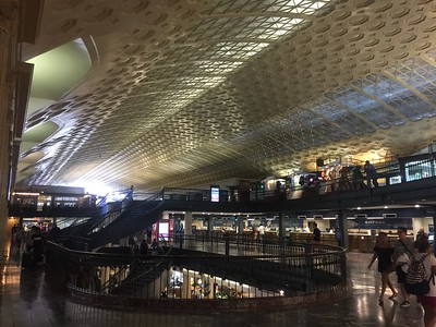 Union Station.   The shopping area and food court between the main hall and the train and bus access.