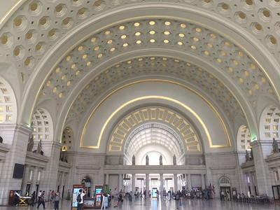 Union Station, taking a cool indoor break from a 100-degree day walkaround.
