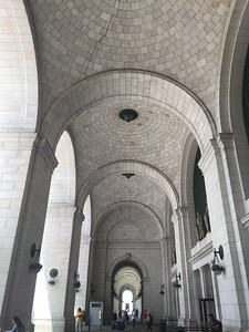Union Station, main entrance.  The are many many tall arches -- and columns -- in D.C.