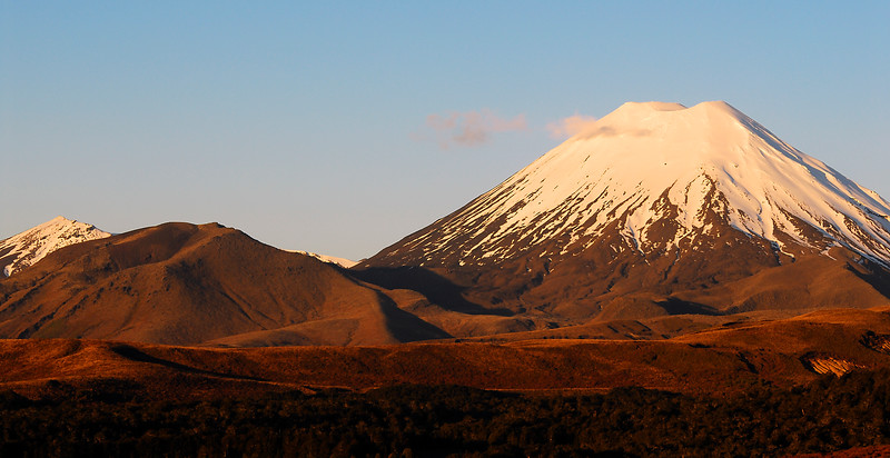 Mt Tongariro at sunset