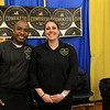 The 18th Annual Taste of Nashoba, sponsored by the Nashoba Valley Chamber of Commerce, was held on Tuesday night at Lawrence Academy's Stone Athletic Center. Rodrigo Souza owner of Comeketo Brazilian Steakhouse in Leominster with his employee Lauren Mercier as they wait for people at the event. SENTINEL & ENTERPRISE/JOHN LOVE