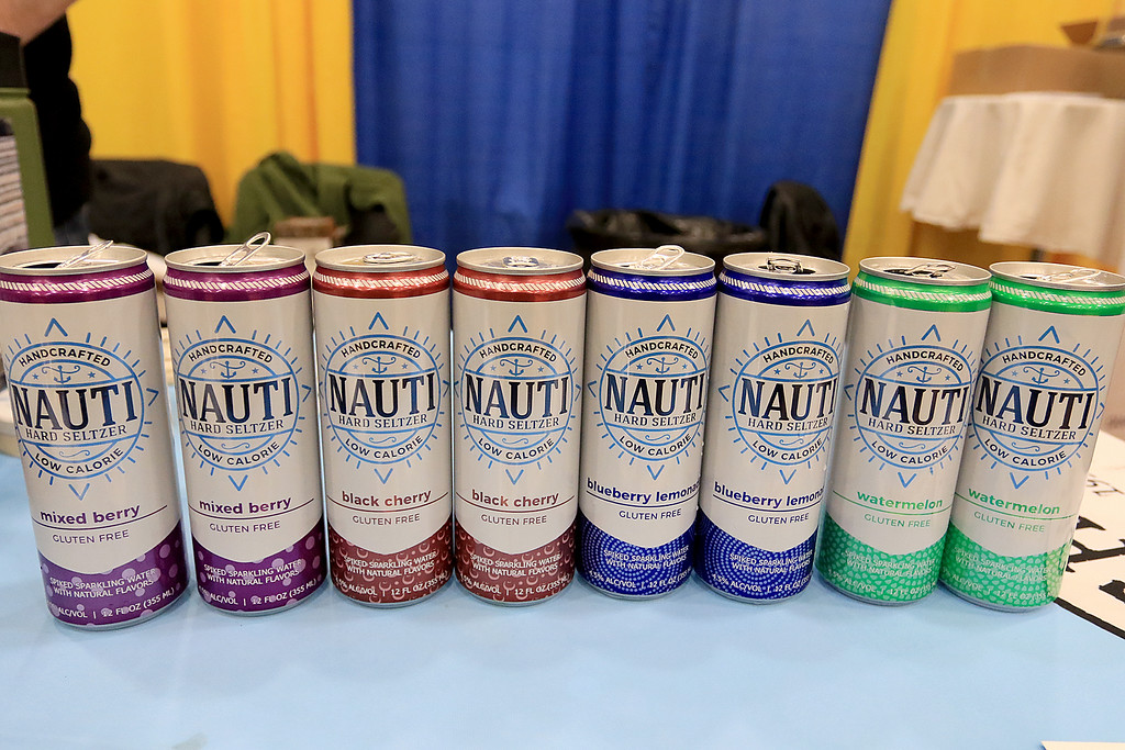 . The 18th Annual Taste of Nashoba, sponsored by the Nashoba Valley Chamber of Commerce, was held on Tuesday night at Lawrence Academy\'s Stone Athletic Center. Wachusett Brewery was serving up some Nauti handcrafted hard seltzer at the event along with some of their beers. SENTINEL & ENTERPRISE/JOHN LOVE