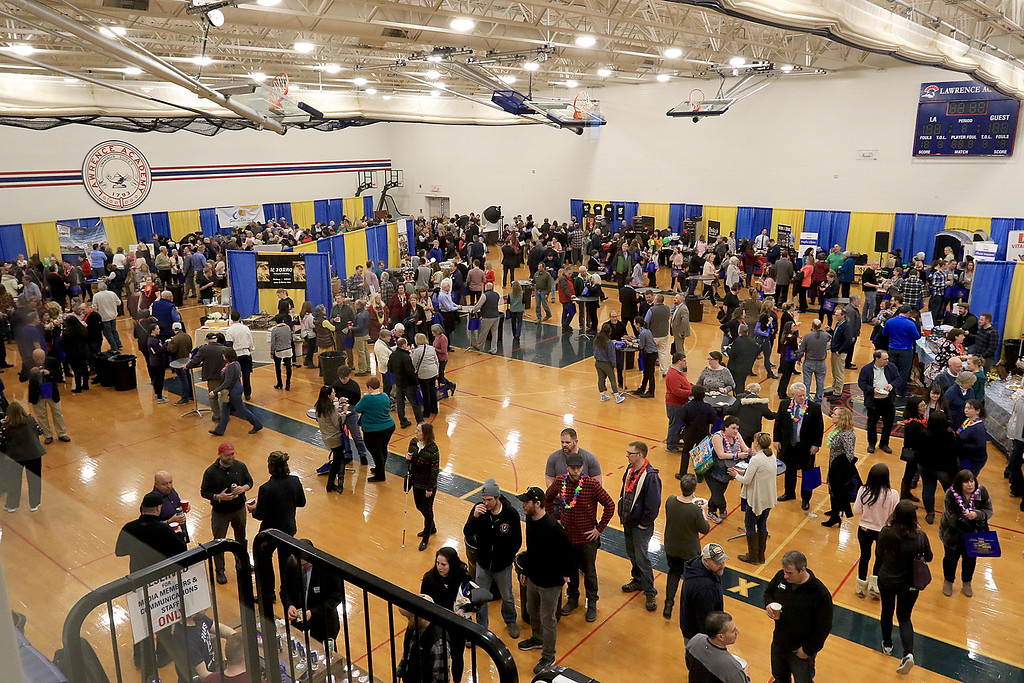 . The 18th Annual Taste of Nashoba, sponsored by the Nashoba Valley Chamber of Commerce, was held on Tuesday night at Lawrence Academy\'s Stone Athletic Center. SENTINEL & ENTERPRISE/JOHN LOVE