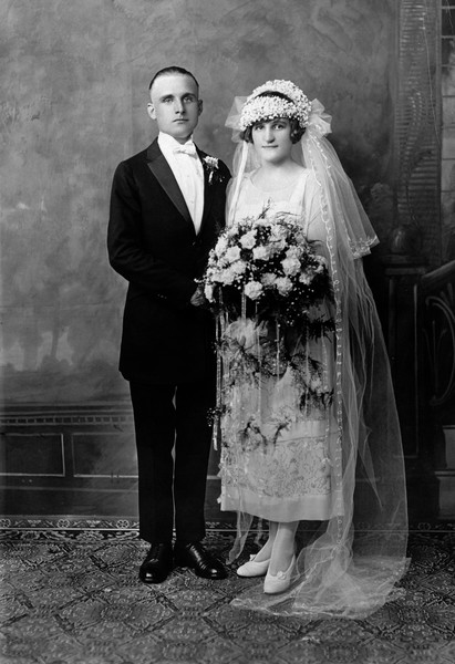 Nanny & Husband, June 1925, St. John the Martyr church, 72nd between 2nd & 3rd, NYC