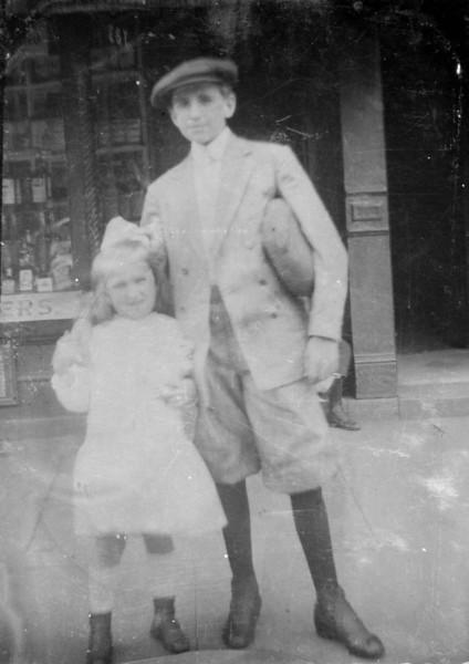 Nanny with brother Joe Mayor
