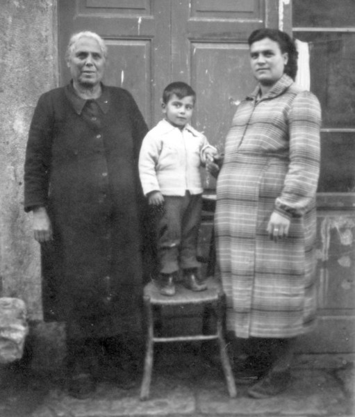 Papa's Mother, Dominic? and Aunt Mary {Papa's Sister}