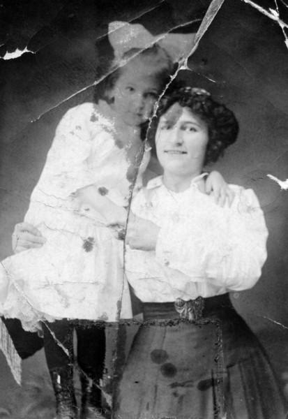 with sister Carmela (Josie) Carey (Mayor), died 1926
