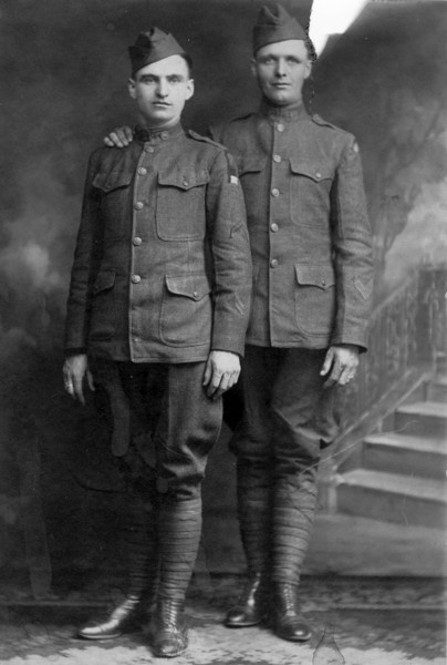 Grandpa McQuillan Brothers, <br /> Left: Uncle Arthur<br /> Right: Uncle John<br /> , World War 1