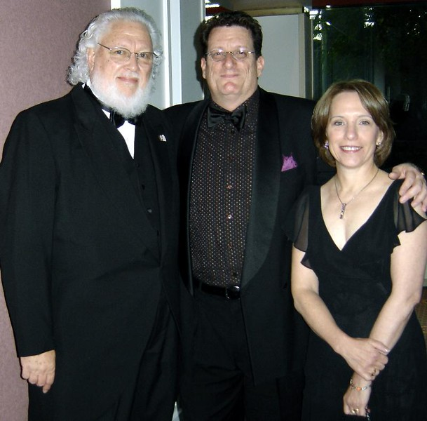 Max Storm with Bob and Denise Miano at the Mid-America Emmy Awards