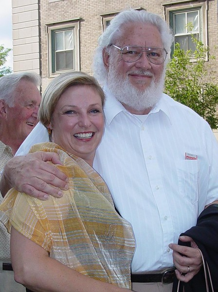 Diane and Max standing in line for the world premiere of The World's Greatest Fair.