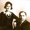1917 09 Lena Rosengard and Samuel Cook
