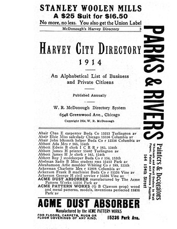 1914  HARVEY IL DIRECTORY