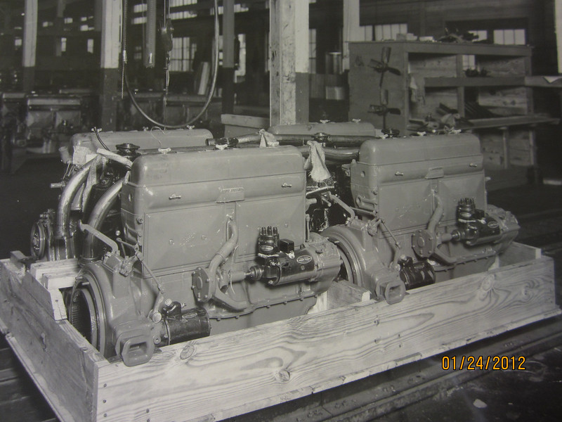 Circa 1929 Buick Factory Photos - From The Buick Gallery, Flint, MI, USA.  Note:  almost everything is painted same colour - presumably green.  Overspray on bottom of starter & generator.