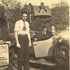 Three Men at Ice Cream Stand w/ 29 Buick Phaeton
