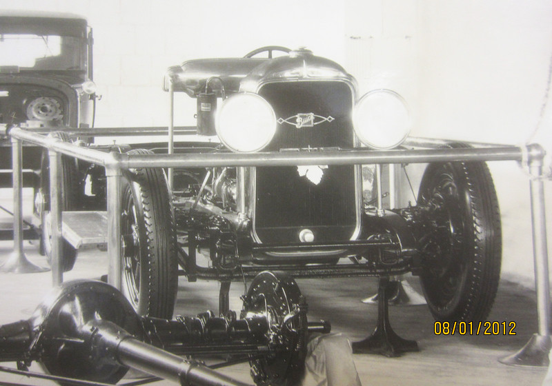 "Circa 1929 Buick Factory Photos - From The Buick Gallery, Flint, MI, USA. (Photo of card states that ""groups were instructed on all mechanical details at chassis display"".)"