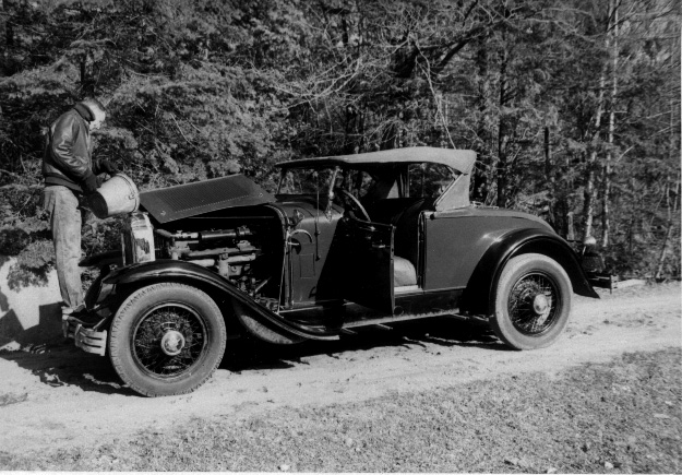 29-44 McL-Buick roadster - circa 1950-55 - problems on the road