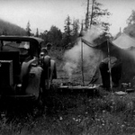 29-44 McL-Buick roadster - circa 1950-55 - camping in the Gaspé.