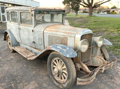 29-27 (?) circa May 2021, in Australia.  Looks very original.  Has a West Motors Lic. plate surround.