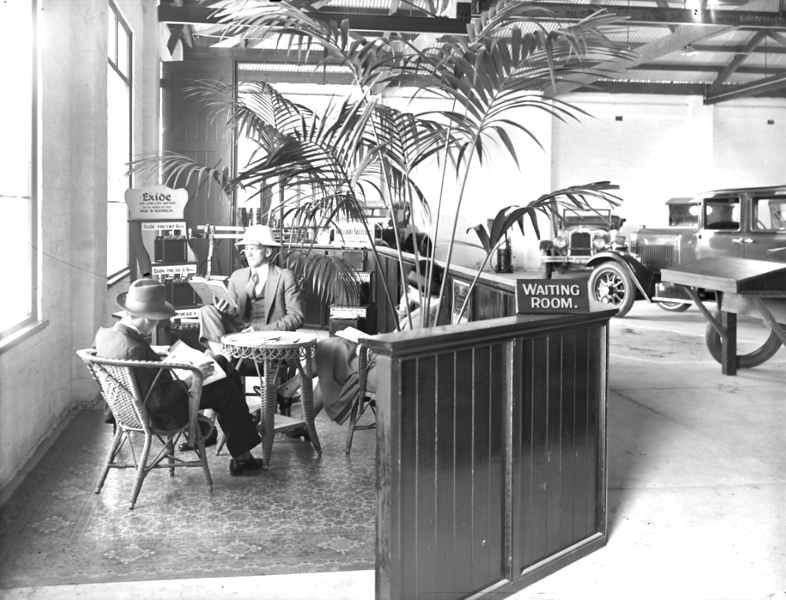 Pic. #2 of 7 (sent by Rick Beazley): Perth, Western Australia Buick (and Marquette), Oldsmobile & Vauxhall dealership's new service station built mid-1929. This was originally ED Toe Motors but became Master Motors during the year. This dealership served all of Western Australia at the time. These photographs were originally published in Oct. 1929.