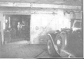 29-44 McL-Buick roadster - circa 1950-55.  Having leaf spring repaired by blacksmith