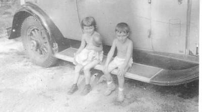 2 children on running board (Bradley)