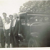 Photo taken in March 1947 in Jamaica.  Greg Khouri advises:  from left to right are my grandmother Marina, Uncle Fouad, a family friend Mrs. Essa, my Dad George, and my grandfather Thannous, who the locals called Tom.