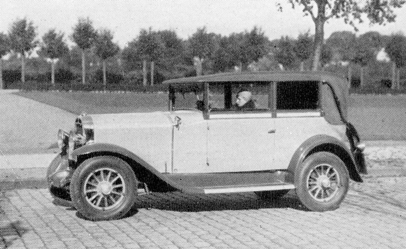 Germany - Special Convertible / cabriolet model (likely built from model 20)