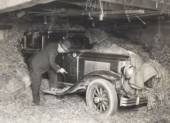 1929 Buick Sedan found in a Barn 2 miles from the Lindbergh estate 19 days after the kidnapping in May 1932.  Turns out it was not connected with the kidnapping.