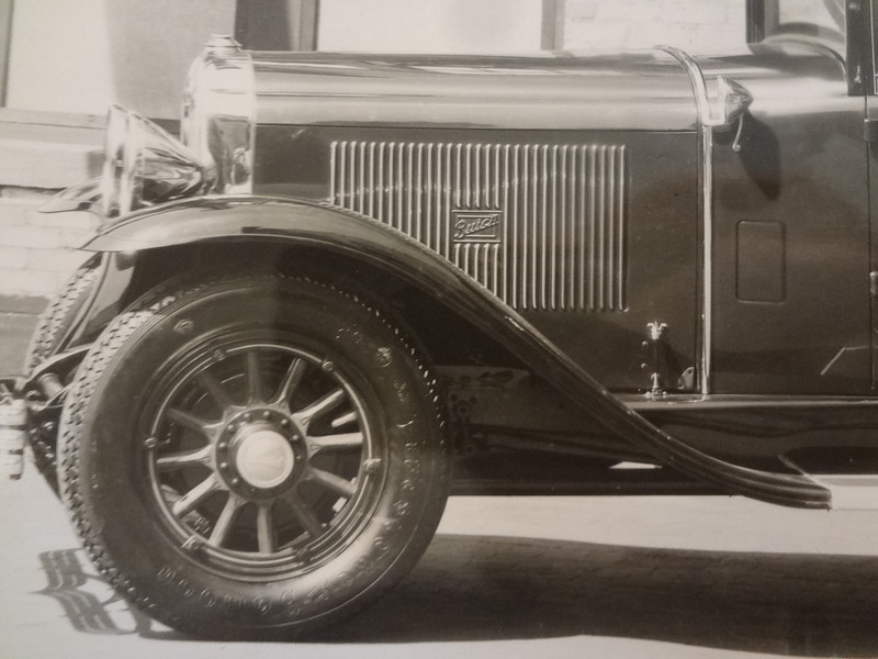 Close-up of 29 Buick with Buick logo pressed in Louvers - from the Terry B. Dunham Memorial Collection now owned by The Buick Heritage Alliance ()
