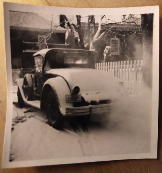 29-44 McL-Buick roadster - circa 1950-55 in the snow.